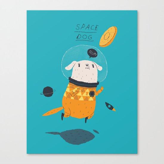 space dog Canvas Print