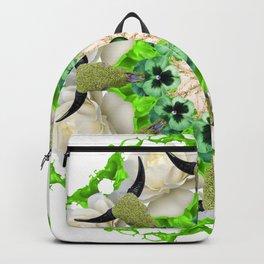 green cows mandala Backpack