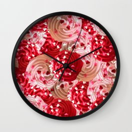 Tickle Me Pick Cream of Hearts Wall Clock