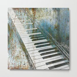 Blue And Lonesome Piano Concert Symphony Music Musical Musician Music Teacher Student Gift Idea Metal Print