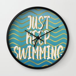 Just keep swimming! Wall Clock