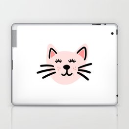 Cute pink cat Laptop & iPad Skin