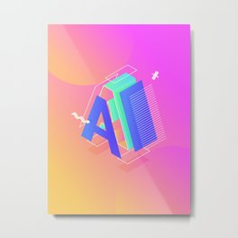 Alphabet A Metal Print