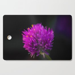 Purple Flower Spike by Reay of Light Photography Cutting Board