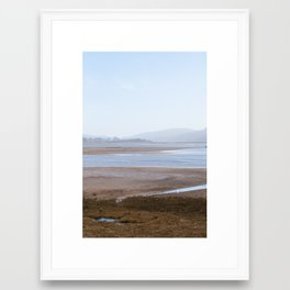 Tomales Bay in Apricot and Blue Framed Art Print