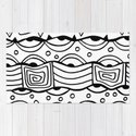 Wavy Tribal Lines with Shapes - Doodle Drawing by desertsart