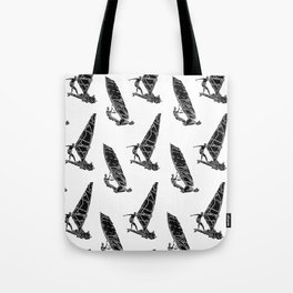 Windsurf Pattern white Tote Bag