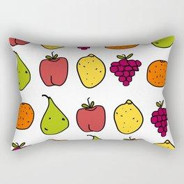 Fruits in a Line Rectangular Pillow