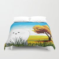 cartoon Duvet Covers featuring Cartoon mouse by Cs025