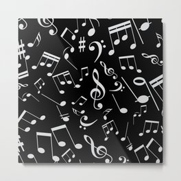 Musical Notes 20 Metal Print
