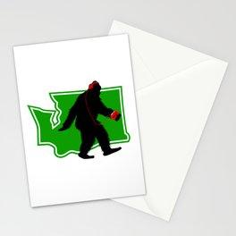 Bigfoot walk in Washington Stationery Cards