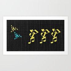 dance musical notes Art Print