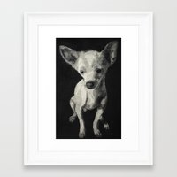 chihuahua Framed Art Prints featuring Chihuahua dog  by Sara.pdf