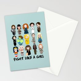 Kokeshis Fight like a girl Stationery Cards