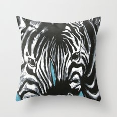 Eye of Contrast {Zebra Love} Throw Pillow