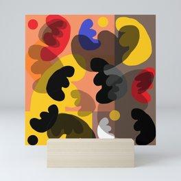 round vibrations Mini Art Print