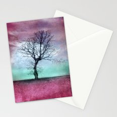 ATMOSPHERIC TREE - Winter Sun Stationery Cards