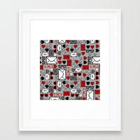 8 bit Framed Art Prints featuring 8-bit by Lily Mitchell