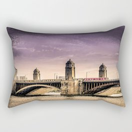 Longfellow Bridge, Boston MA Rectangular Pillow