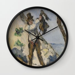 Man with a Vest Wall Clock