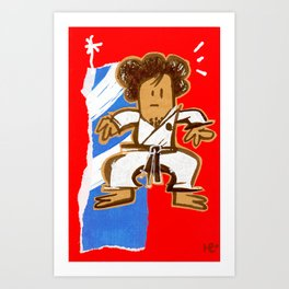 Taekwondoin Art Print