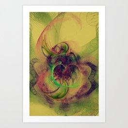 Phantom Heart Nebula Art Print