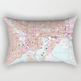 Vintage Map of Tampa Florida (1956) Rectangular Pillow