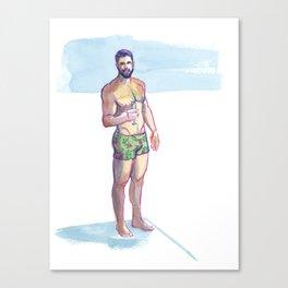 RYAN, Semi-Nude Male by Frank-Joseph Canvas Print