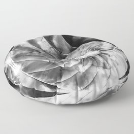 Black And White Nautilus Shell By Sharon Cummings Floor Pillow