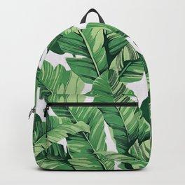 Tropical banana leaves V Backpack