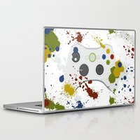 xbox Laptop & iPad Skins featuring Controller Graffitti XBOX by AngoldArts