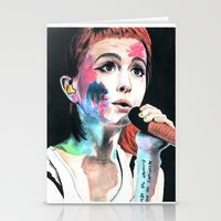 hayley williams Stationery Cards featuring Hayley Williams by alice kasper