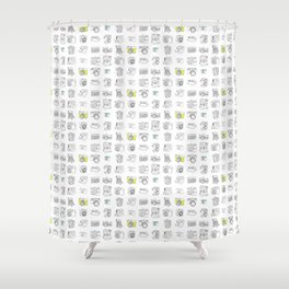 My Camera Collection Shower Curtain