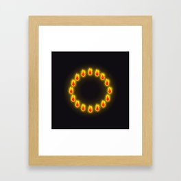 Burnin' Ring-O-Fire Framed Art Print