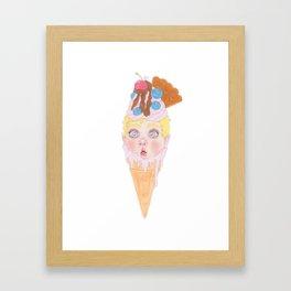 Strawberry Ice-cream Framed Art Print