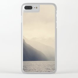 Foggy Fjord, North Sea Clear iPhone Case