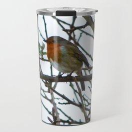 The Solitary Robin Travel Mug