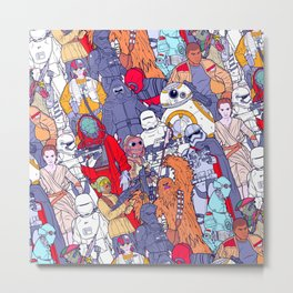 Space Toons in Color Metal Print