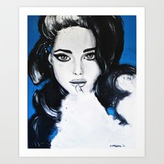 Miss M. in Blue  Art Print