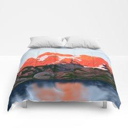 Sunset Mountains Comforters