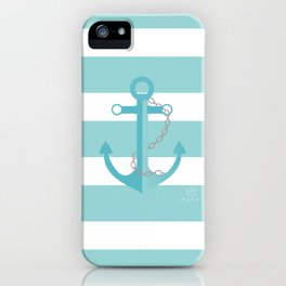 AFE Nautical Aqua Ship Anchor iPhone Case