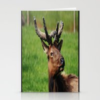 elk Stationery Cards featuring Elk by Tianna Chantal