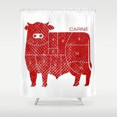 carne Shower Curtain
