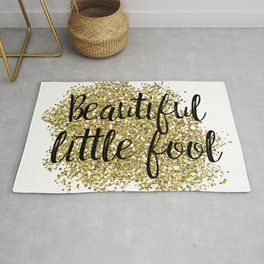 Beautiful little fool - golden jazz Rug