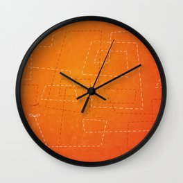 The Dance of the Midge on a Hot Summer Night Wall Clock