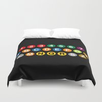 subway Duvet Covers featuring NYC Subway! by byebyesally