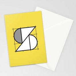 S // Perfectionist Alphabet (Pantone Illuminating + Ultimate Gray) Stationery Cards
