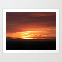 SETTING SUN II Art Print