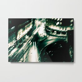 Blurred Traffic Metal Print