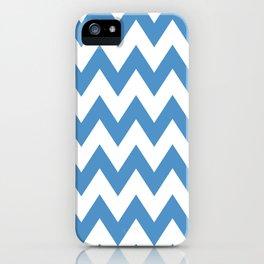 light blue chevron pattern iPhone Case